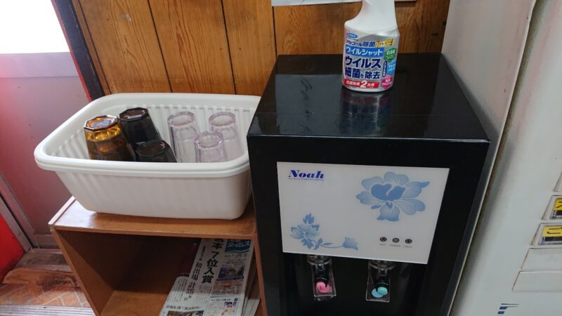 丸長食堂(まるながしょくどう)沖縄市美里の冷水器