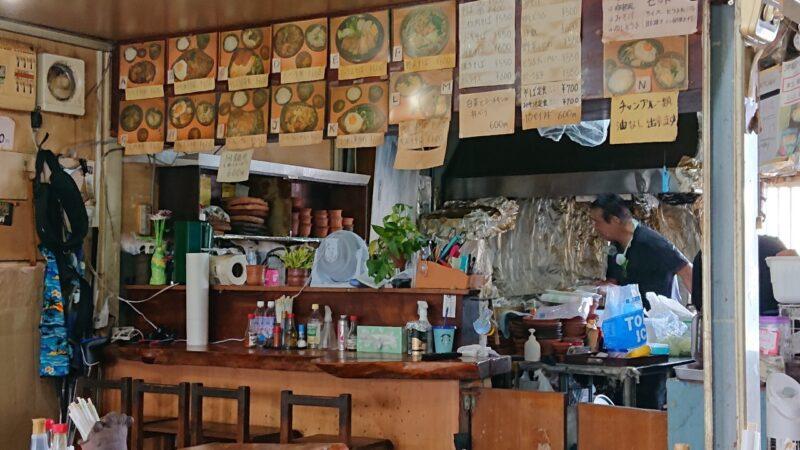 和喜川屋(わきがわや)沖縄市知花のカウンター
